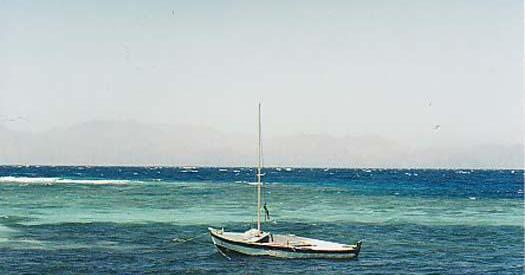 Sailboat in Blue Lagoon